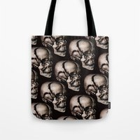 broken Tote Bags featuring BROKEN by DIVIDUS