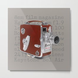 Vintage Movie Camera Metal Print