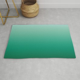 Ombre Teal Green Gradient Pattern Rug