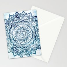BLUE JEWEL MANDALA Stationery Cards