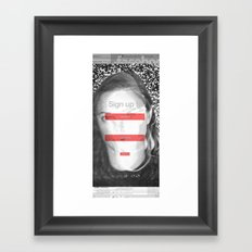 SOCIAL NETWORK Framed Art Print