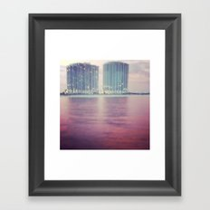 Hotels on the water Framed Art Print