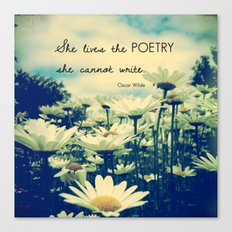 Poetic Life Canvas Print