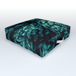 closeup green artichoke texture background Outdoor Floor Cushion