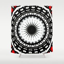 Red Black Fight Shower Curtain