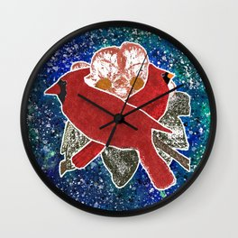 Cardinal, Bird Watching Wall Clock
