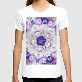 Fluid Nature - Purple Blue Mandala Star T-shirt