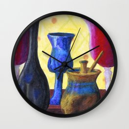 Bottlescape I, Abstract Alice in Wonderland Party Wall Clock