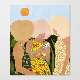 Nature Lovers #illustration #painting Canvas Print