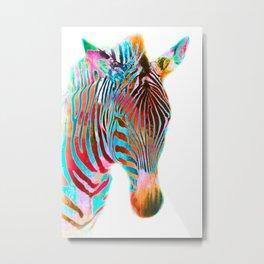 Freaky Zebra2 Metal Print