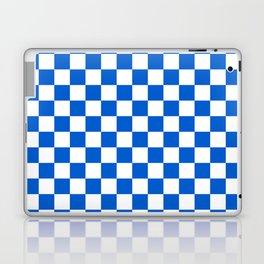 Gingham Brilliant Blue Checked Pattern Laptop & iPad Skin