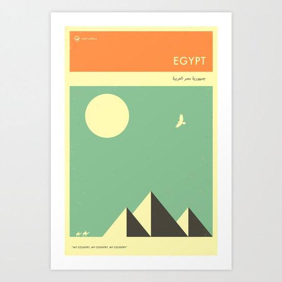 VISIT EGYPT Art Print