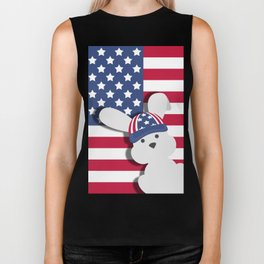 INDEPENDENCE DAY BUNNY Biker Tank