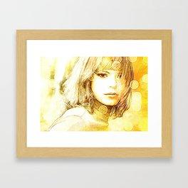 Society6 Tapestry Yellow Lady Framed Art Print
