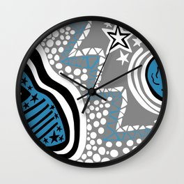 Soul Of The Dream Desert - Star Gazer (Blue and Grey Edition) Wall Clock