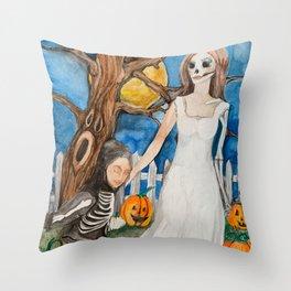 Halloween at last Throw Pillow