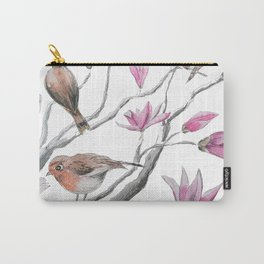magnolia flowers and birds Carry-All Pouch