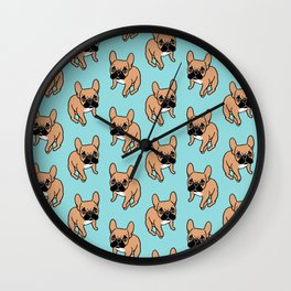 The Cute Black Mask Fawn French Bulldog Needs Some Attention Wall Clock