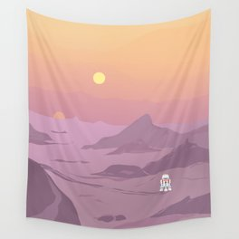 """""""R5-D4 Tatooine Sunset"""" by Lyman Creative Co Wall Tapestry"""