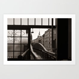 BERLIN TELETOWER - urban landscape Art Print