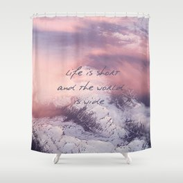 World is wide Shower Curtain