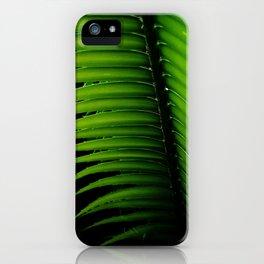 Palm tree leaf - tropical decor iPhone Case