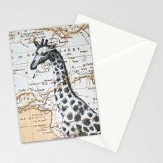 Giraffe in Africa: All Neck  Stationery Cards