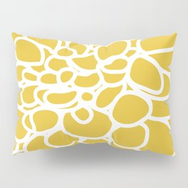 Mustard Yellow Modern Dahlia Flower Pillow Sham
