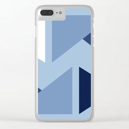 Indigo modern triangle design Clear iPhone Case