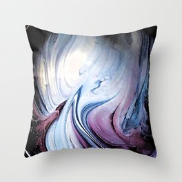 Tint Blot - Blue Stalagmites Throw Pillow