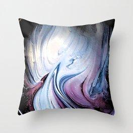 Tint Blot - Blue Stalagmites Throw Pillow
