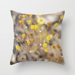 Abstract Botanical - Billy Buttons Throw Pillow