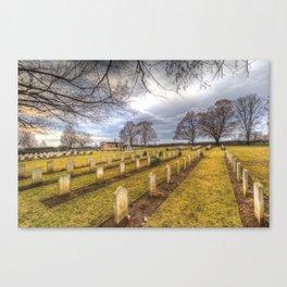 World War 2 War Graves Budapest Canvas Print