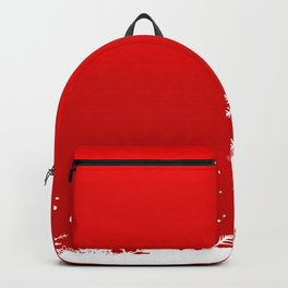 Red Snowflake Scene Backpack