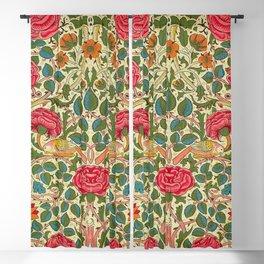 William Morris Roses Floral Textile Pattern Blackout Curtain