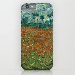 Vincent van Gogh - Poppy Field (1890) iPhone Case