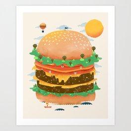 Burgerland Art Print