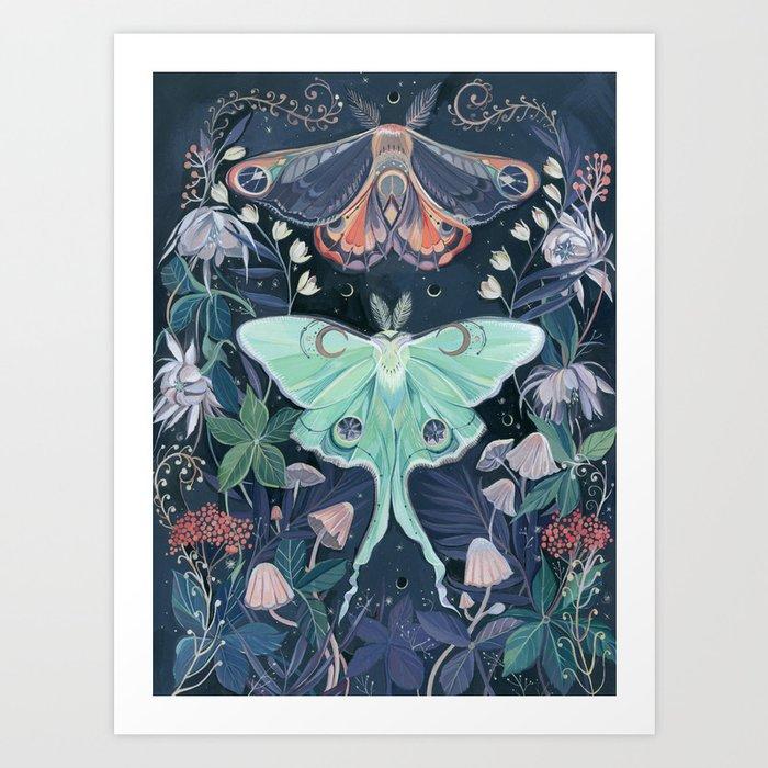 Luna Moth Kunstdrucke