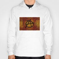 anarchy Hoodies featuring Distressed Anarchy by Bruce Stanfield