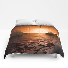View from Exoplanet Trappist-1f Comforters