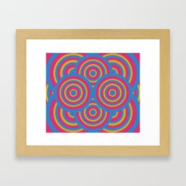 wide eyes&wireframes Framed Art Print