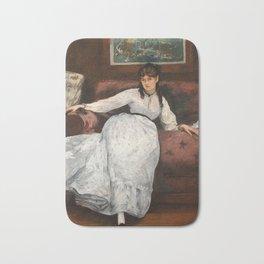 The Rest, portrait of Berthe Morisot by Edouard Manet Bath Mat