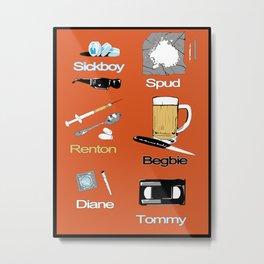 Trainspotting vector Metal Print