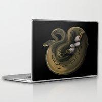 monty python Laptop & iPad Skins featuring Ball Python Family Art by TheShamanOfRavens