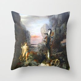 The Lernaean Hydra by Gustave Moreau (1876) Throw Pillow