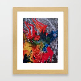 Abstract Colored Framed Art Print