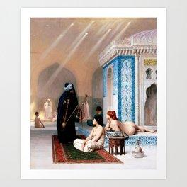 Jean-Leon Gerome - Pool In A Harem - Digital Remastered Edition Art Print