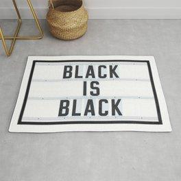 BLACK IS BLACK - Lightbox Rug