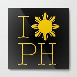 I Love Philippines Metal Print