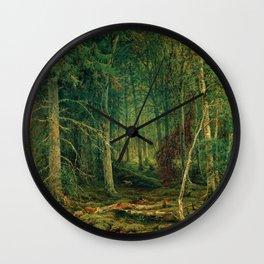 "Ivan Shishkin ""Backwoods"" Wall Clock"